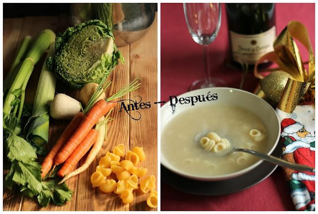 Sopa de Galets o caracoles