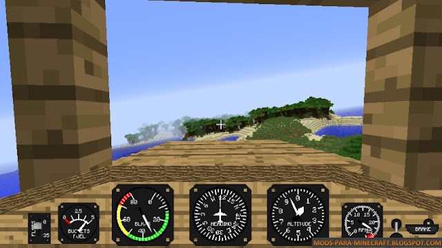 HUD - Flight Simulator Mod para Minecraft 1.7.10