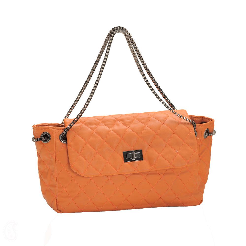 Stylish Orange Hand Bag   Here Everythink Is Stylish