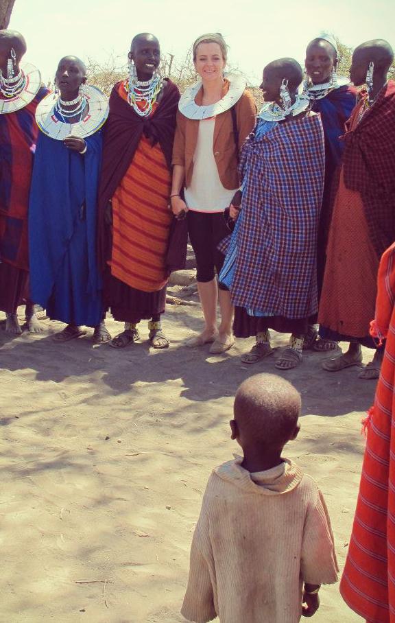 moi avec une tribu Masai Tanzanie, Afrique