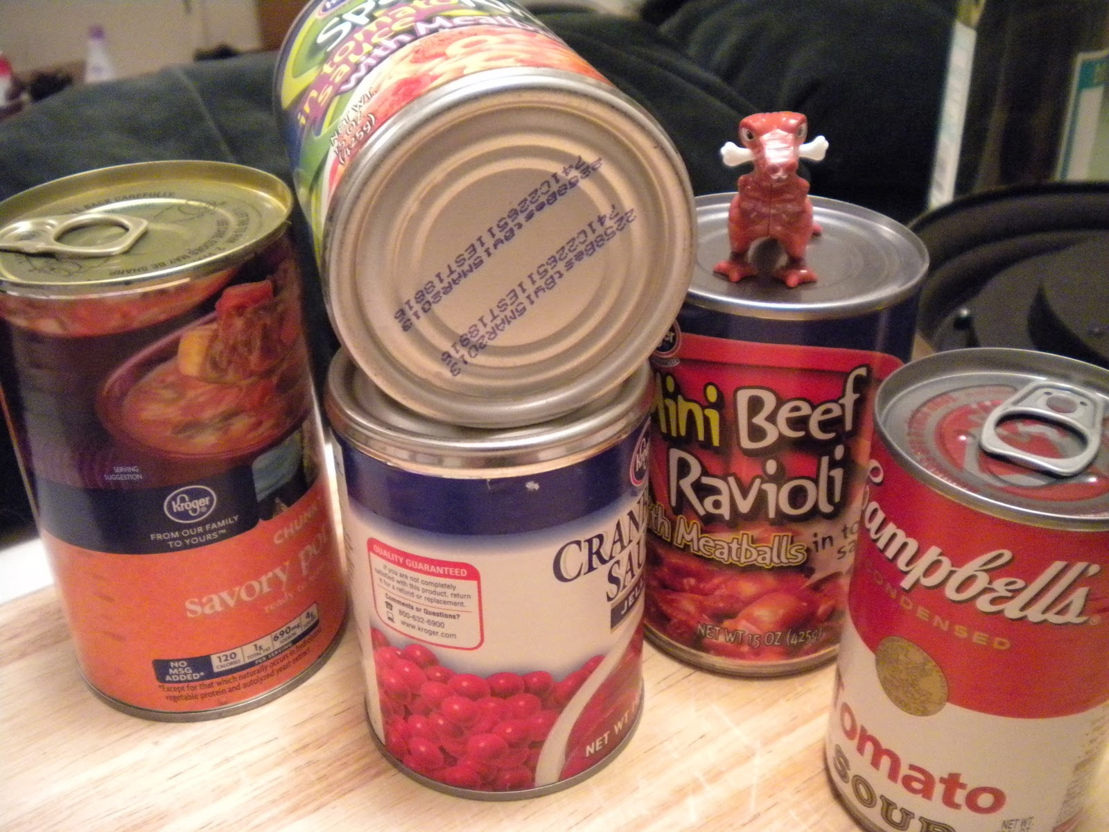 I donated cans of food that I had already purchased that contained high fructose corn syrup. :(