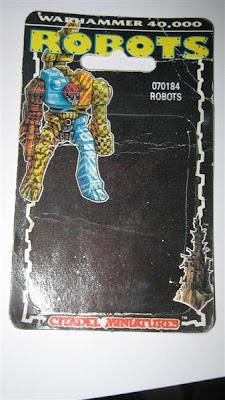 Blister de los robots de Warhammer 40000