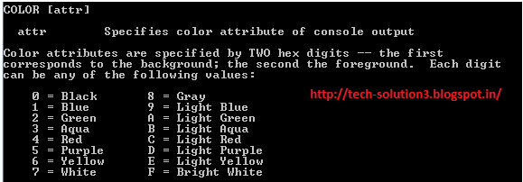 how to change colors in cmd
