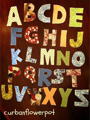 fabric letters, early education, letters for felt board