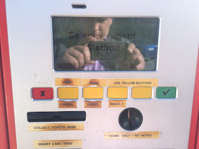 The many buttons on Wilson parking machines in Canberra