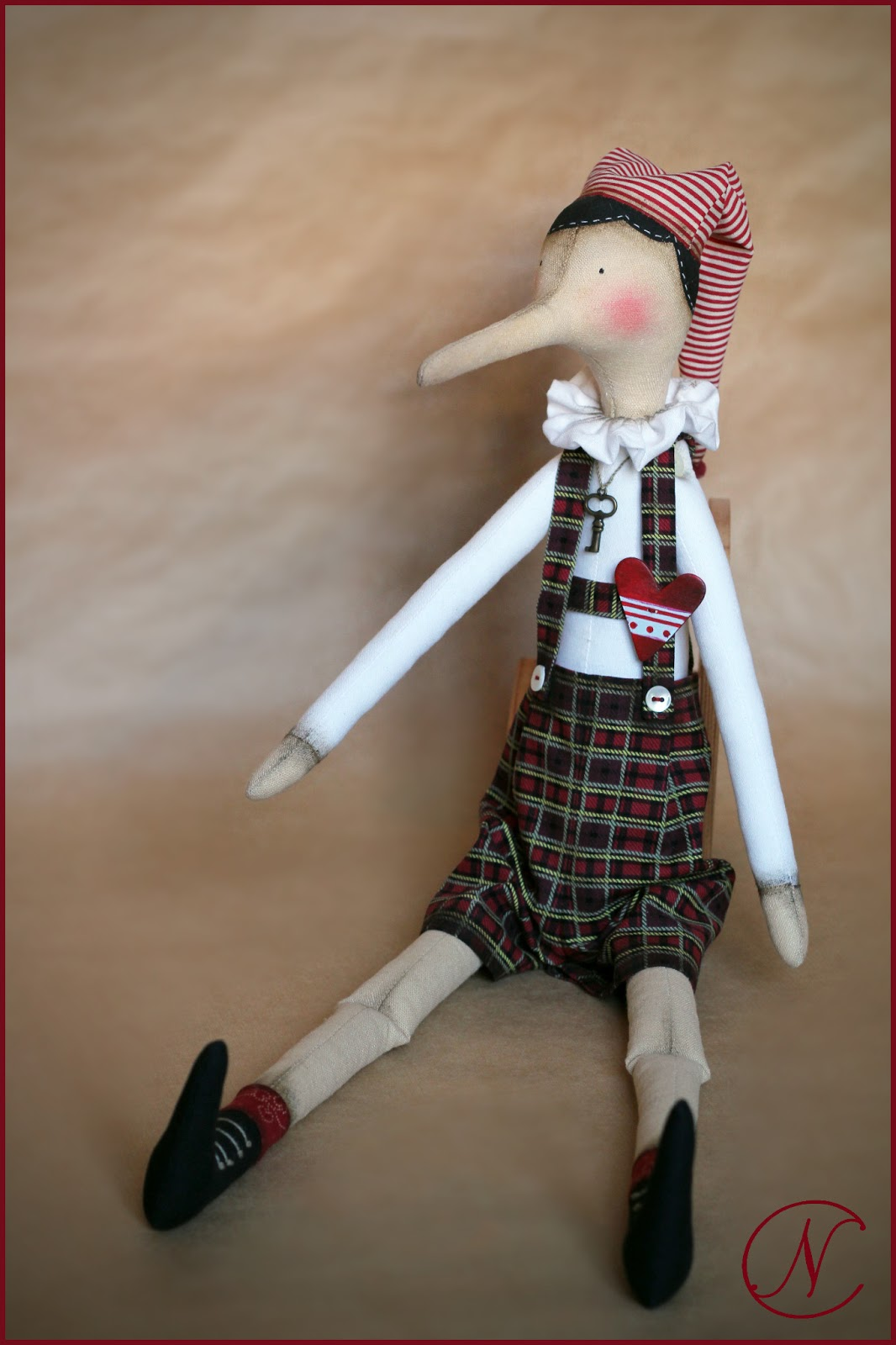 Новогодний костюм Буратино своими руками 44