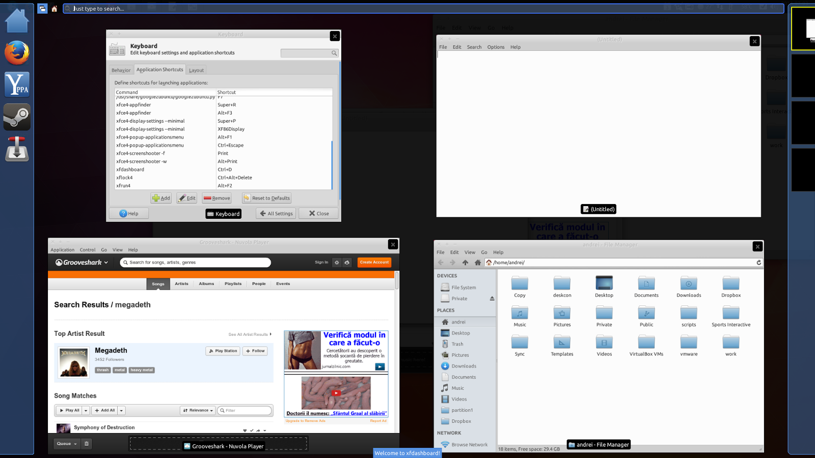 Xfdashboard Xfce Xubuntu