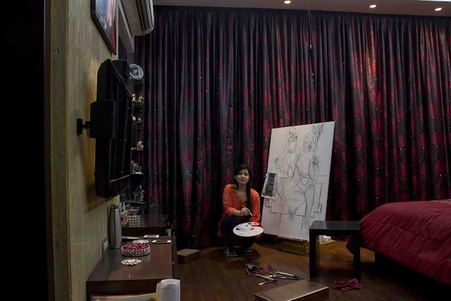 Painting SHIVA-PARVATI - Isha Trivedi