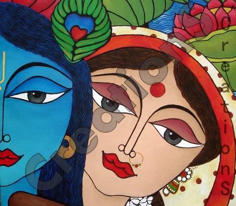 Radha Krishna Love Story Painting Stories of Radha Krishna