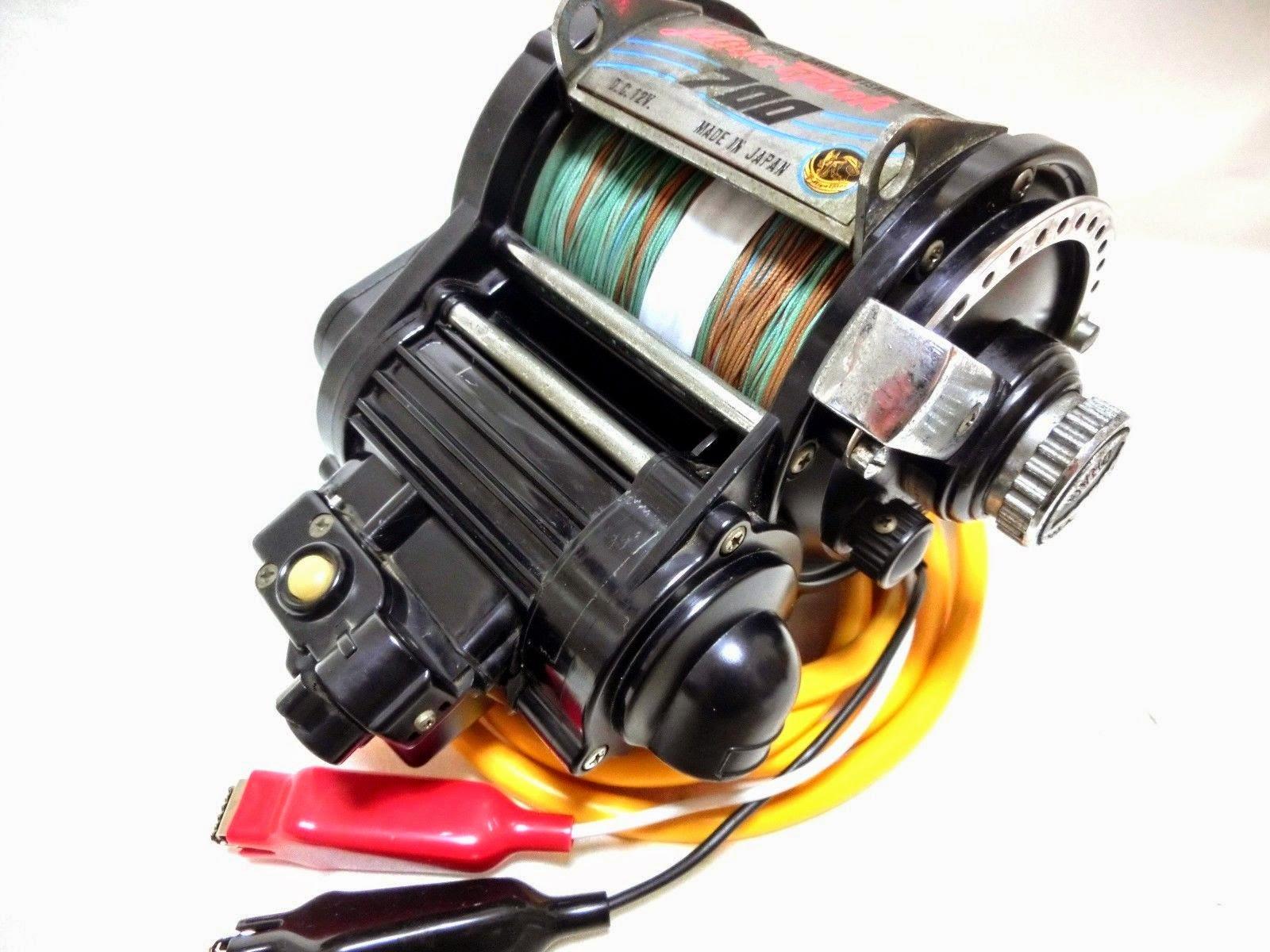 <Defective>Vintage MIYAMAE Miya Epoch 700 Electric Reel + Used line for Parts
