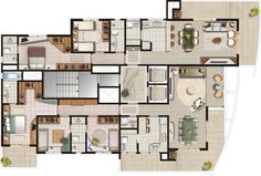 8 Resedential House Plans From 200 - 400 Meter Square Area