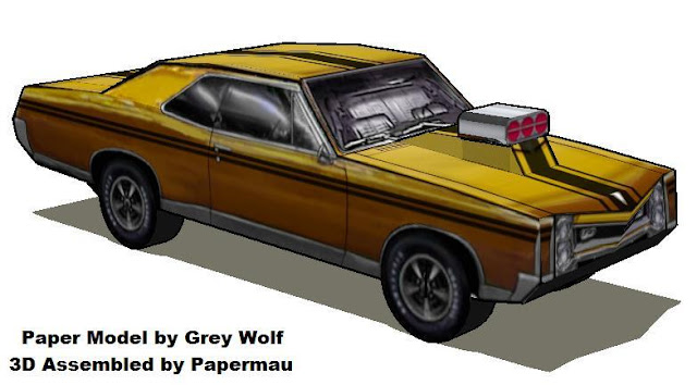 Papermau Savage Wheels Gto Muscle Cars Paper Models By Grey Wolf