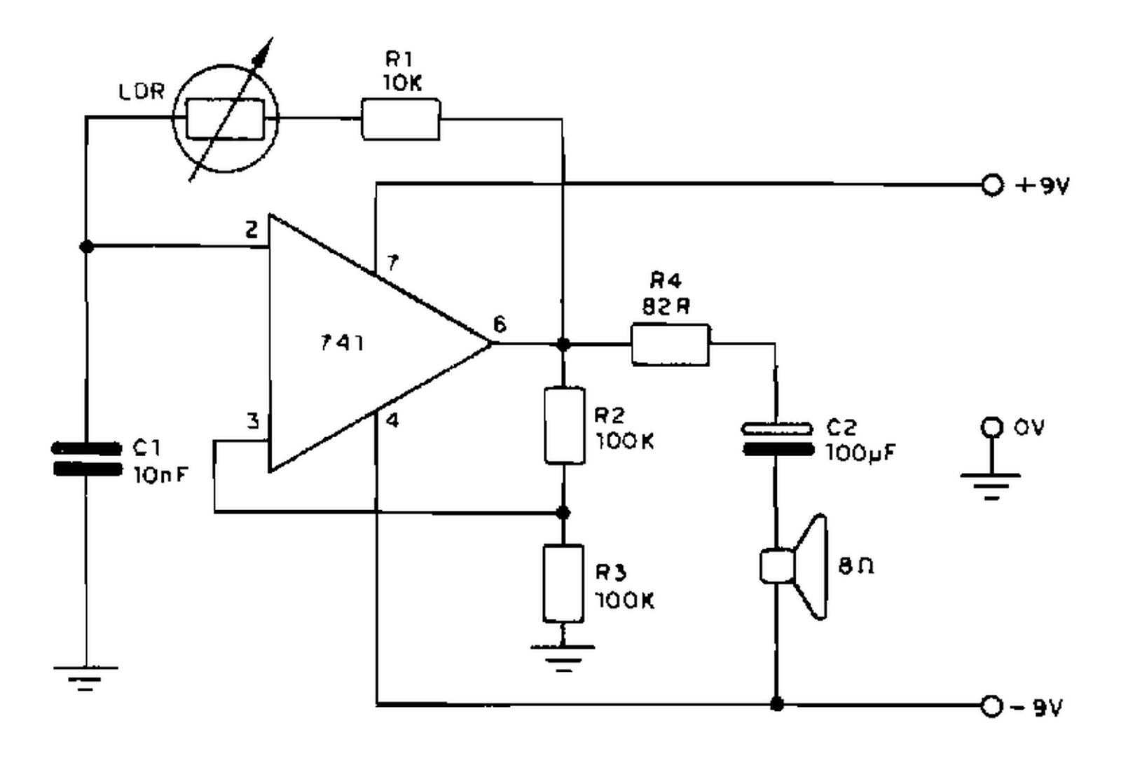 Circuito Oscilador : EletrÔnica geral oscilador sensível à luz