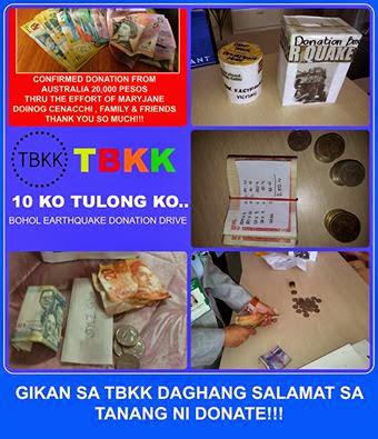 TBKK Bohol Donation Drive