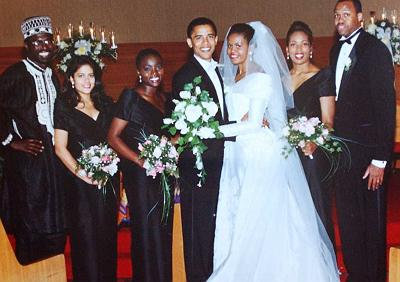 The political girl michelle and barack obama celebrate their 19th