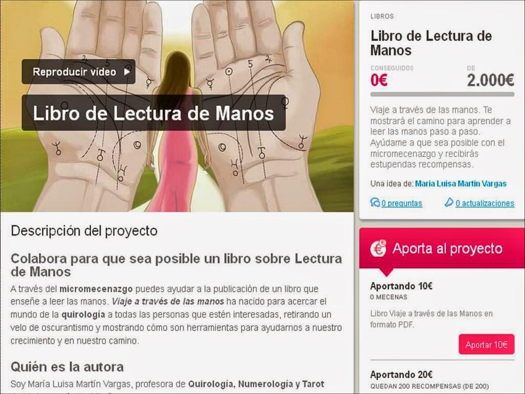 Libro de Lectura de manos a través de crowdfunding