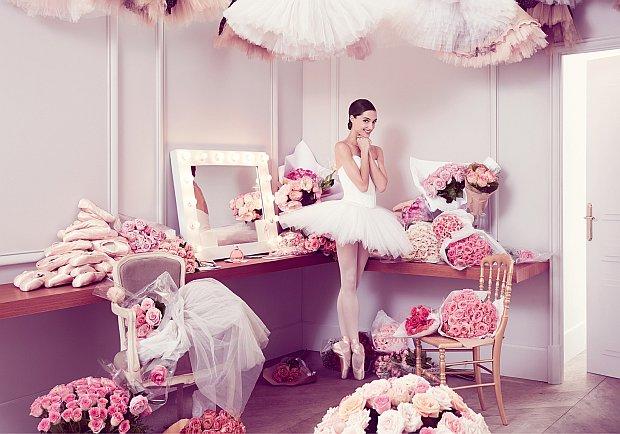Dorothee Gilbert w kampanii Repetto L'Eau Florale