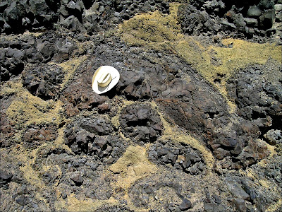 Pillow basalt, photo by Nick Zentner. CWU Geology