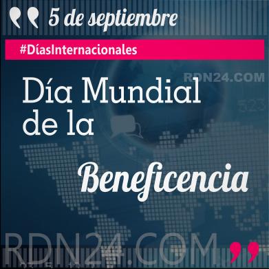 Día Mundial de la Beneficencia #DíasInternacionales