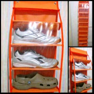 """gambar hanging shoes organizer"""" title="""