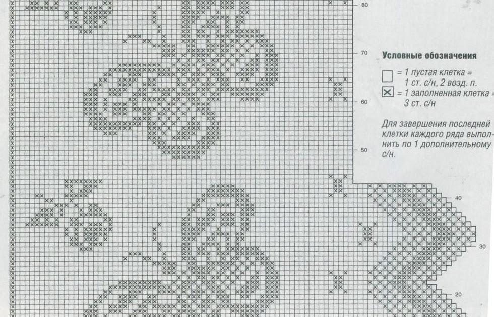 Филейное вязание схема ирис 912