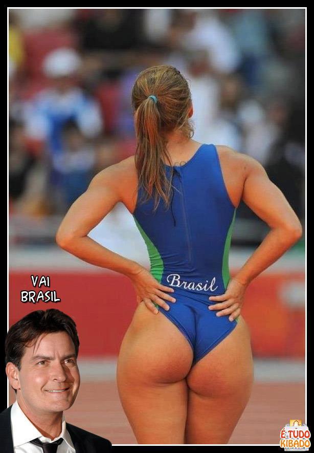Charlie Harpper está torcendo pelo Brasil nas olimpíadas de londres 2012