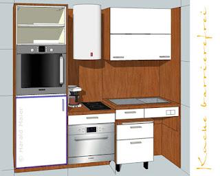 barrierefreie Küche - Planung
