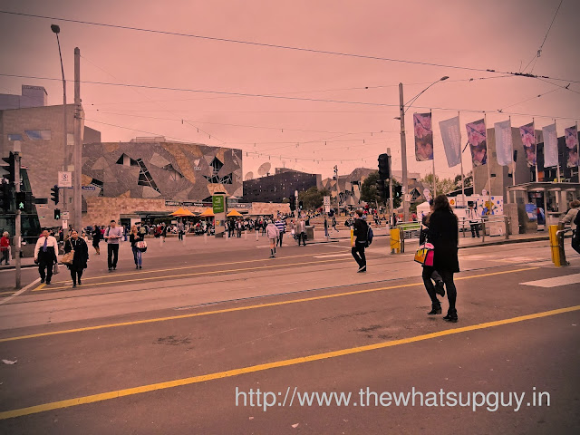 People Crossing Roads at Fed Square