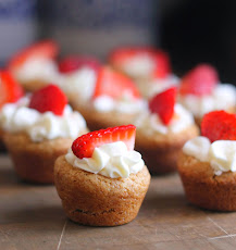Strawberries and Cream Cookie Tarts