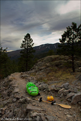 Hiking a mile into the wilderness, Chris Baer, Blunt Family Paddle, Wave Sport, view, Valliceto, CO, colorado,