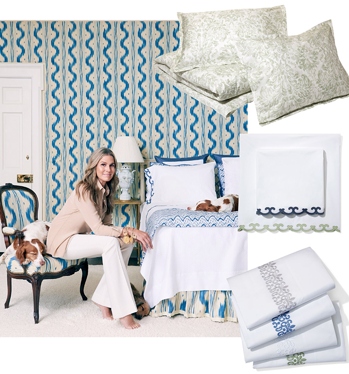 Aerin Lauder has a new bedding line available at Neiman Marcus