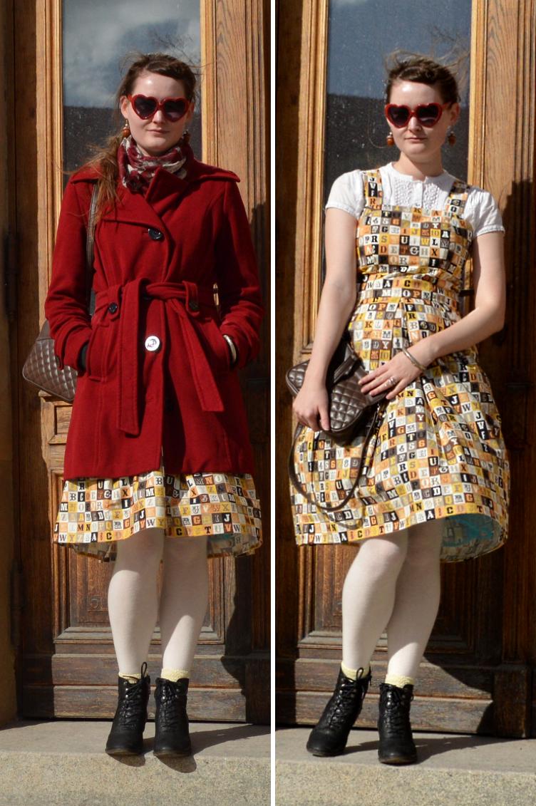 dress, lolita, alphabet, sew, diy, quaintrelle, georgiana quaint, deichmann, reserved, lace, jsk, jumper skirt