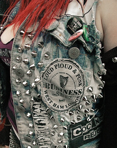 Fashionable Punk jacket with rivet