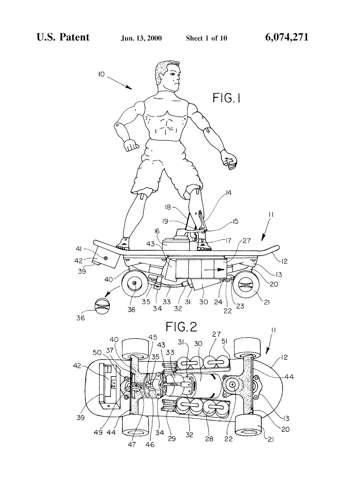 the patent search blog  skateboard inventions with a