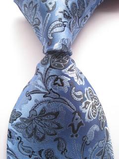 lassic Floral Blue Black JACQUARD WOVEN 100% Silk Men's Tie Necktie