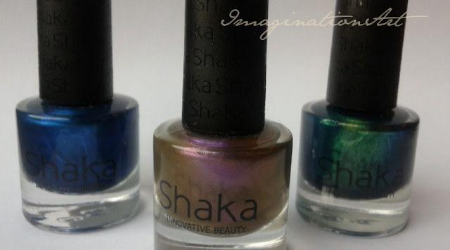 shaka nail polish lacquer smalto unghie esmerald purple universe