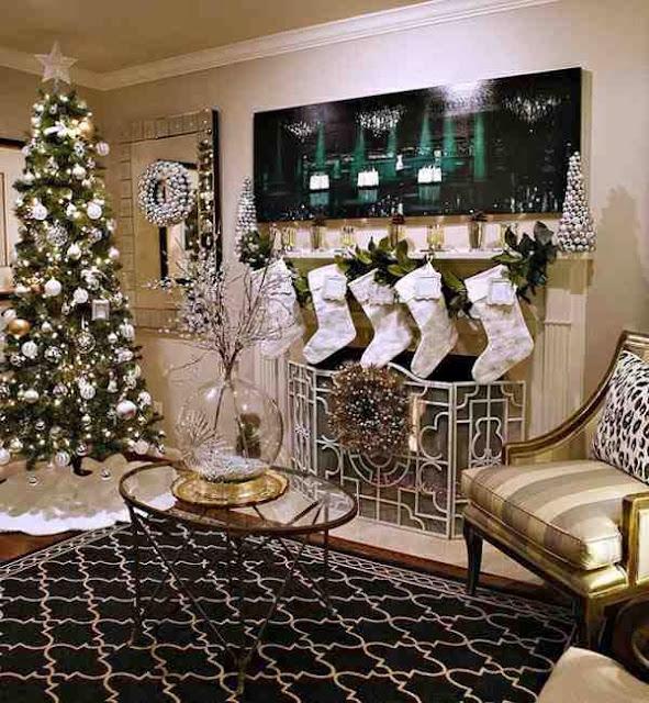 Aranżacja salonu w świątecznym stylu