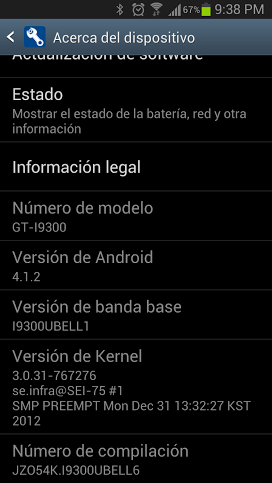 GALAXY S III - ANDROID 4.1.2