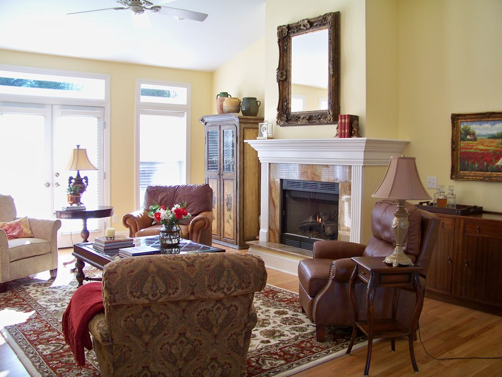 the comforts of home french country living room before and after