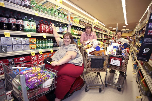Image result for fat woman on scooter walmart