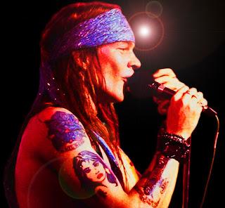 Imagen de Axlr Rose en concierto. Finales de los 80