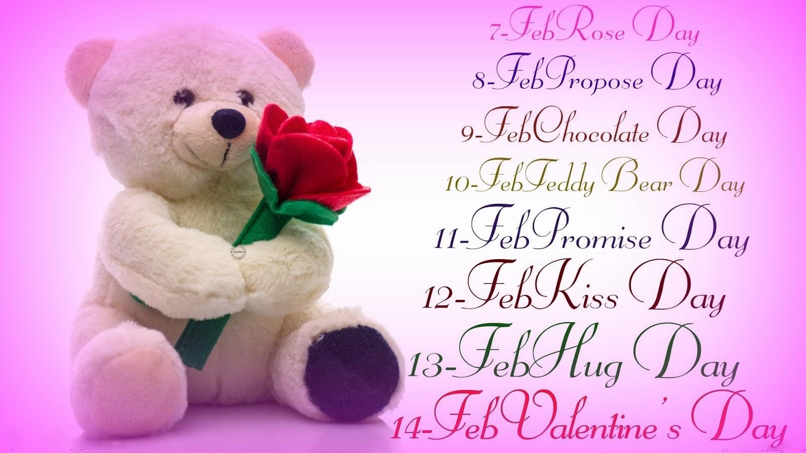 Valentine week list 2017 Date sheet of Valentine
