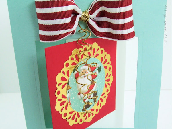 Home For Christmas Santa Flip Fold Card