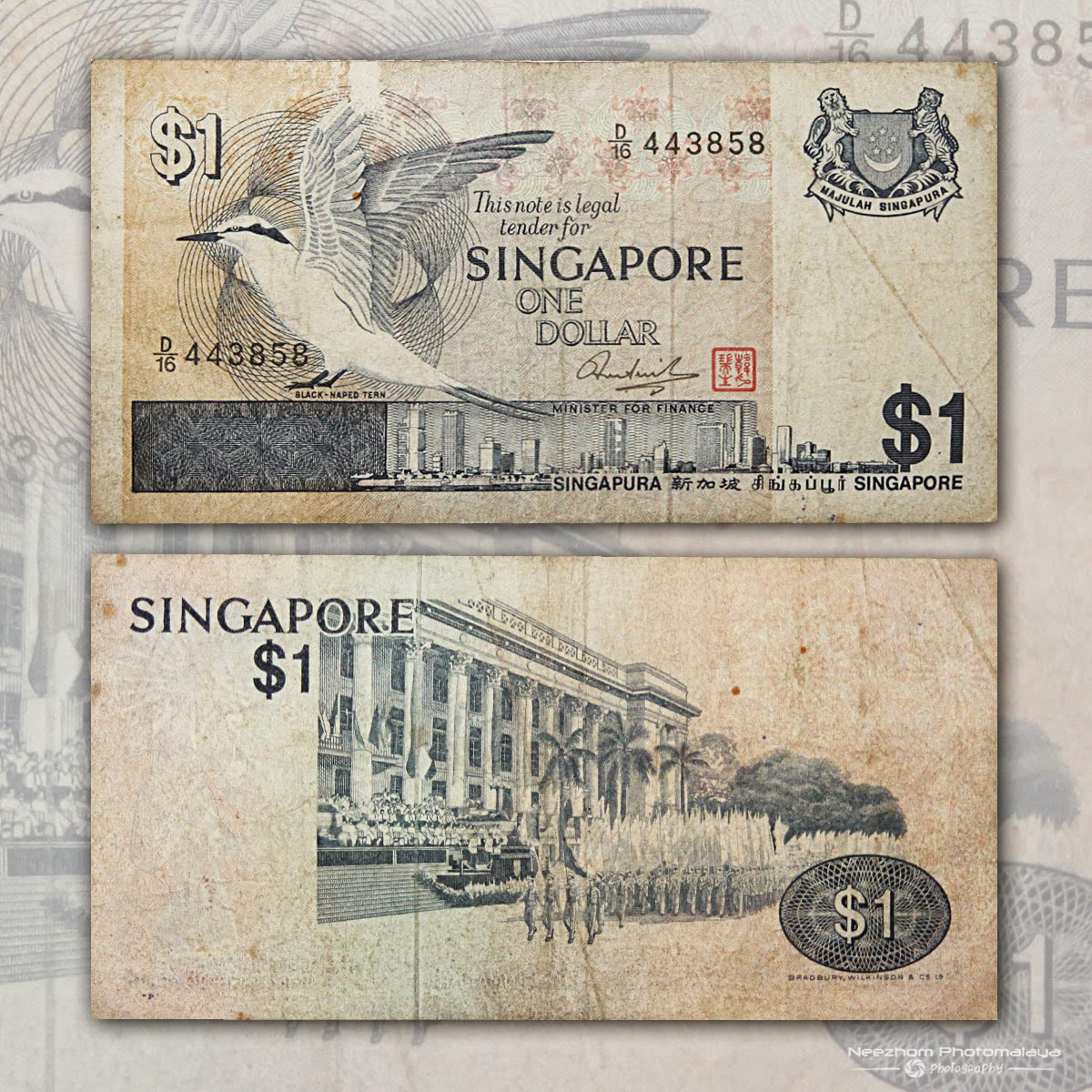 Singapore banknote 1 Dollar Bird Series