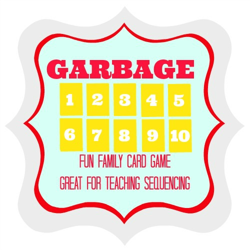 Garbage {Fun Number Sequencing Card Game For The Family} from Blissful Roots