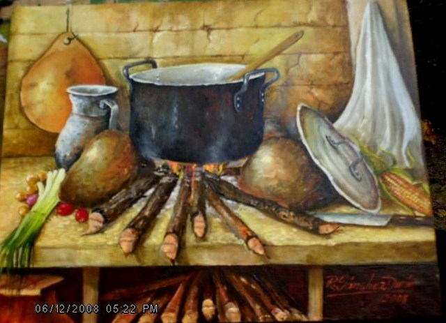 Im genes arte pinturas galer a cocinas oleo - Laminas para cuadros de cocina ...