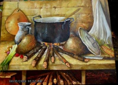 Im genes arte pinturas galer a cocinas oleo - Cuadros originales para cocina ...
