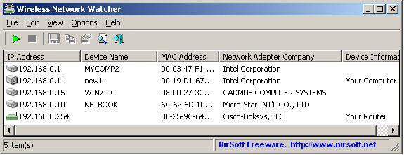 Download Free Wireless Network Watcher