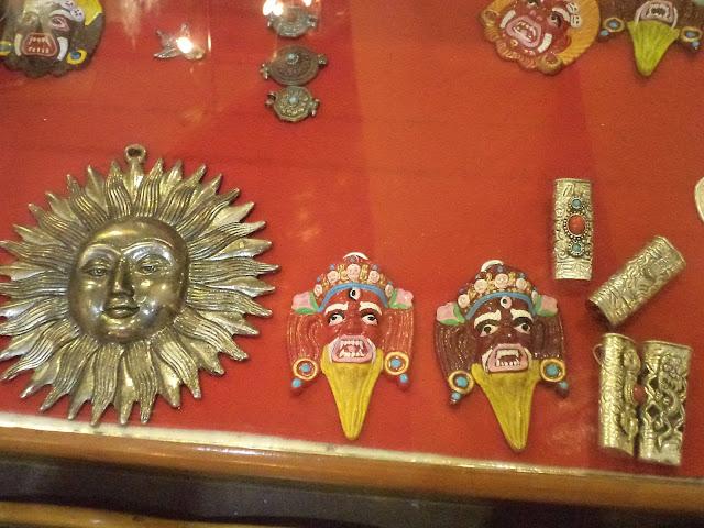 Tibetan mask in Museum Mcleodganj