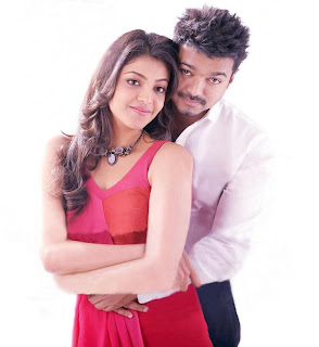 Kajal Aggarwal with Vijaya in movie Thuppaakki Movie Stills